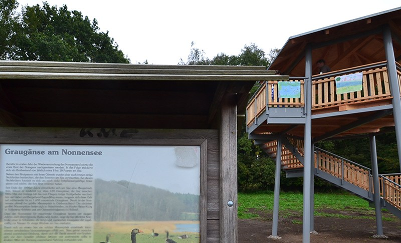 Neuer Aussichtsturm am Nonnensee