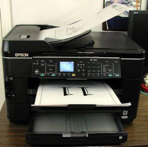 Epson WF-7520 with Large Media
