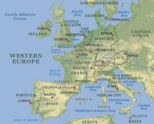 Western Europe Map