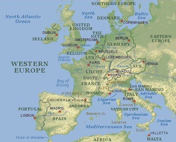 Western Europe Map