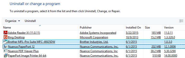 nuance pdf viewer plus uninstall