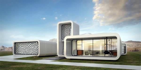 UAE 3d printed office building plan