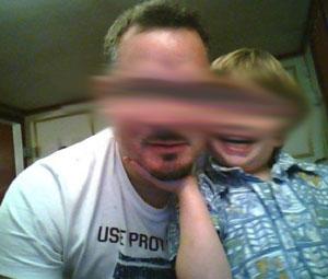 Screenshot von George, Gesichter verfremdet.