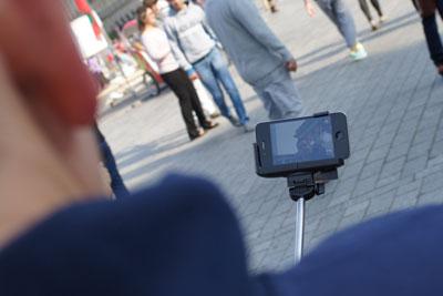 Selfie mit Selfie-Stick