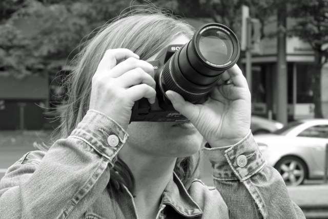 Bettina fotografiert