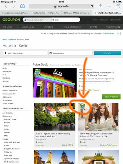 "Screenshot Groupon: ""Sofort buchbar"""