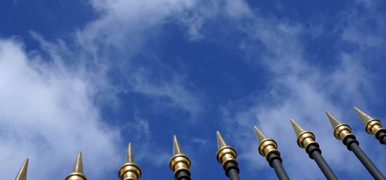 Ein Zaun: Es kommt immer auf den Blickwinkel an.