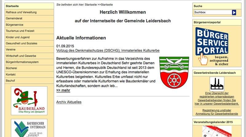 Homepage Leidersbach