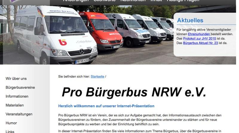 Screenshot Pro Bürgerbus