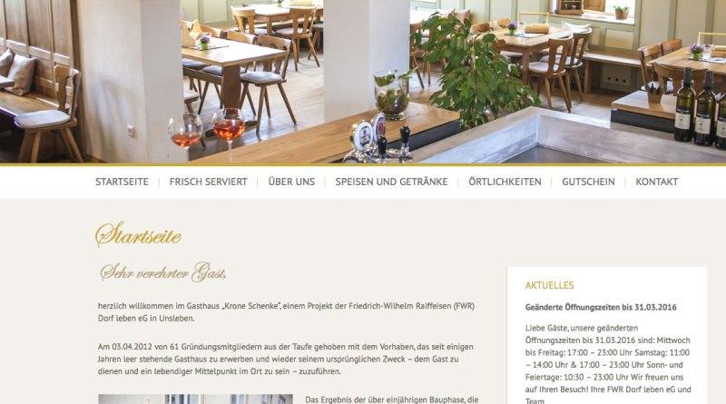 Screenshot Schenke Unsleben