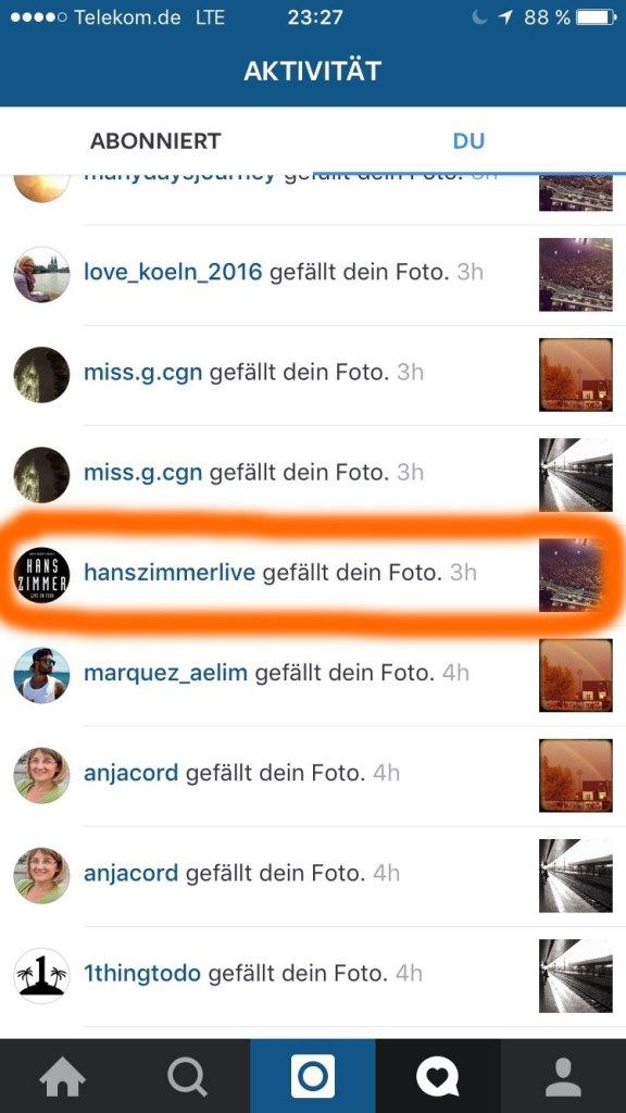 Ein Like von Hans Zimmer