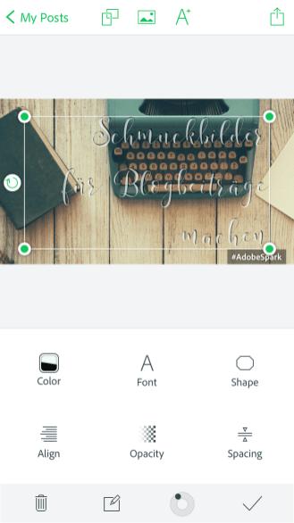 Beschriftung und Schrift ändern