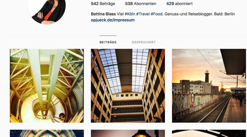Mein Instagram-Account: bettinaopjueck