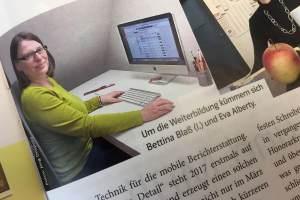 Artikel über mich als Bildungsreferentin beim DJV-NRW