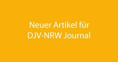 Neuer Artikel fürs DJV-NRW Journal