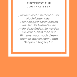 Pinterest für Journalisten