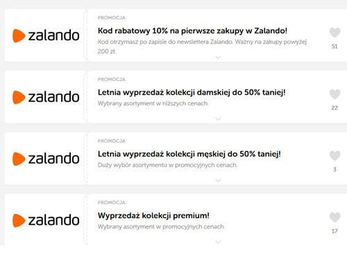 kody rabatowe z Zalando