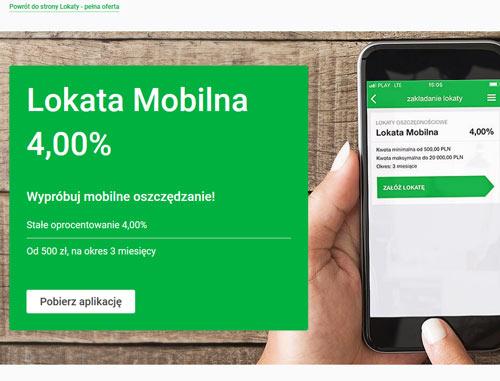 lokata mobilna w Getin Banku