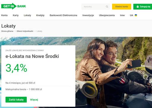 oferta lokaty nowe środki w Getin Bank