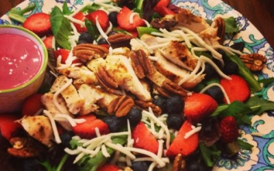 Festive and Healthy: Berry Chicken Salad With Blueberry Vinaigrette