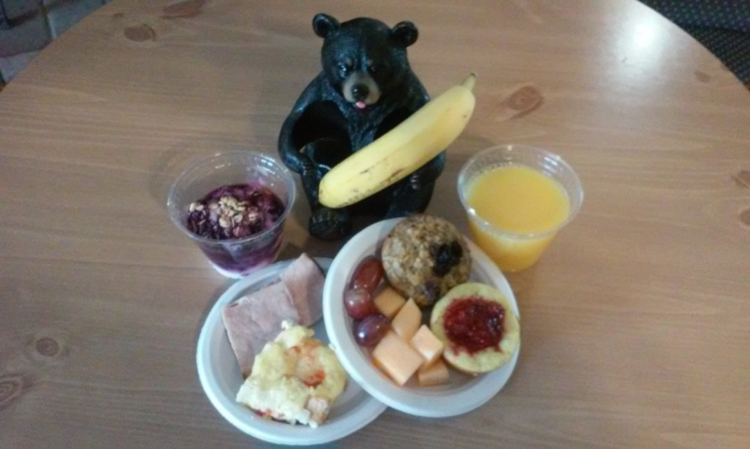 Sample of one of our breakfasts at Wiscasset Woods Lodge.