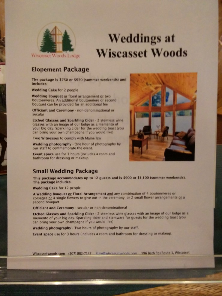 Our elopement and small wedding package is an affordable and stress-free way to tie the knot. Consider getting married at Wiscasset Woods Lodge in Midcoast Maine.