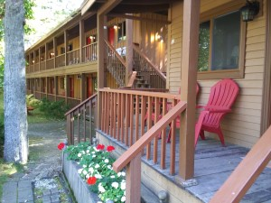 Cottage room and motel building