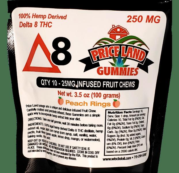 delta 8 peach ring label