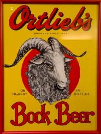 Vintage Ortlieb's Bock Beer sign