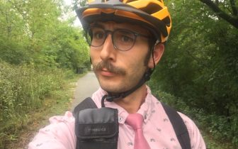 seflie on the bike trail