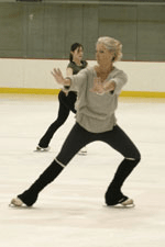 Lynn Paulsen, shown here rehearsing with the 2005 Red, White & Blades cast, is one of many fine coaches on the WFSC staff.