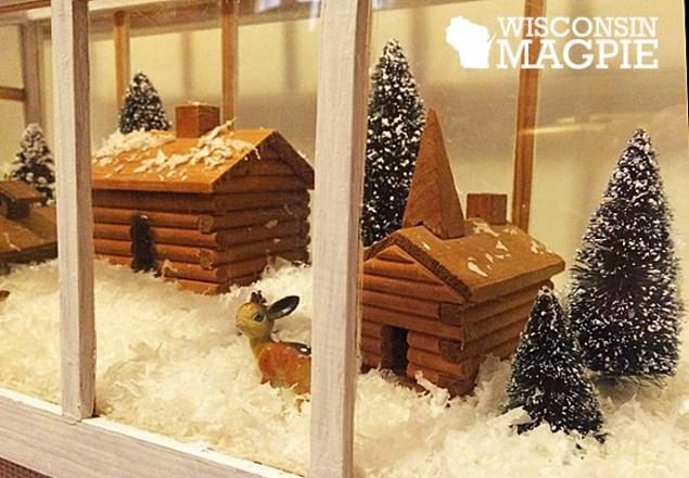 miniature log cabins