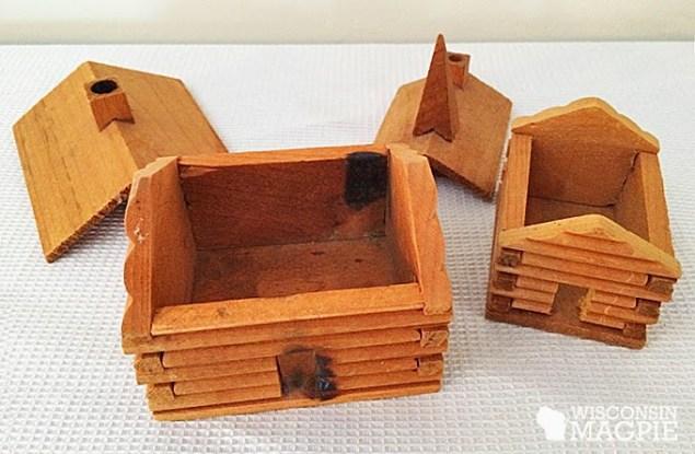 miniature log cabin