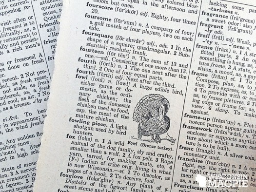 old dictionary page