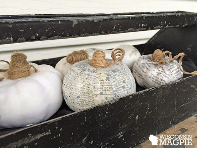 decoupaged pumpkins