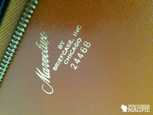 old leather portfolio
