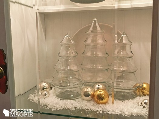 glass Christmas tree jars