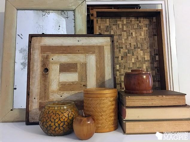 wooden log cab quilt square
