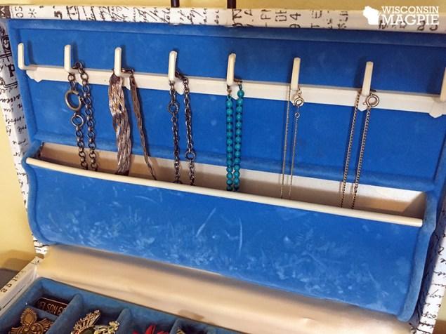 jewelry box blue interior