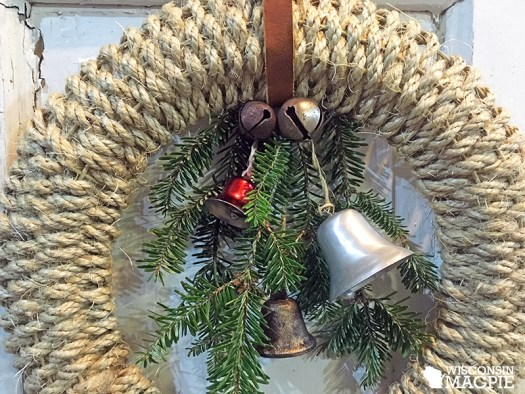 sisal wrapped wreath