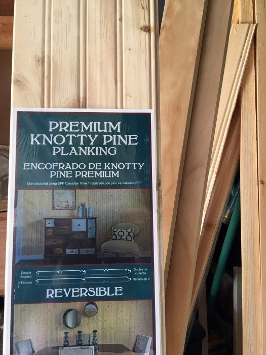 reversible knotty pine planking