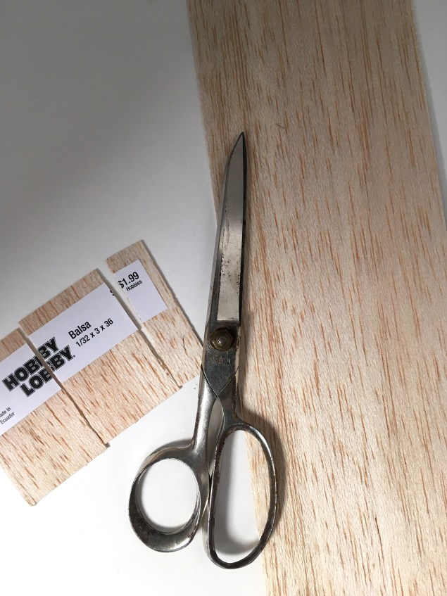 Thin balsa wood for hardware organizer makeover