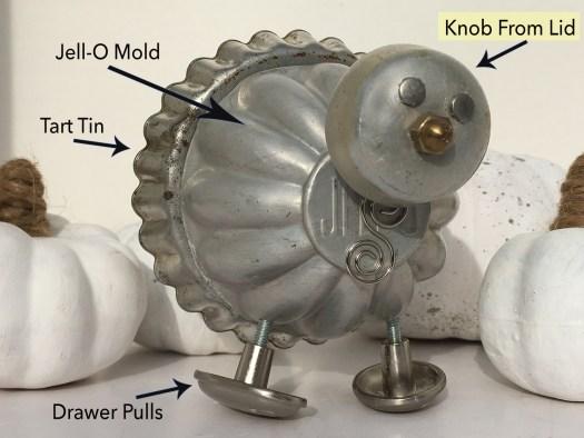 Junk turkey assemblage made of random metal parts