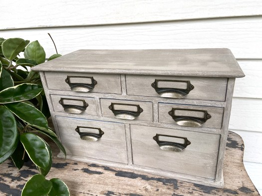 industrial style apothecary cabinet