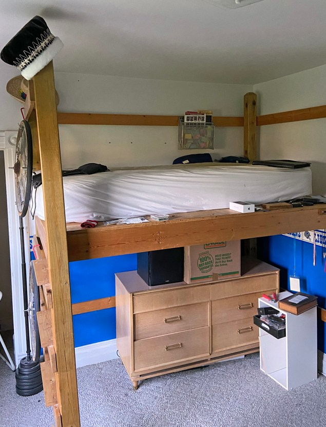 loft bed in boy's bedroom