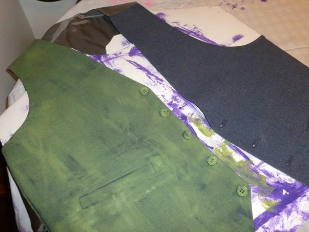 Painting vest for Joker costume