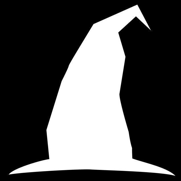 witch hat silhouette