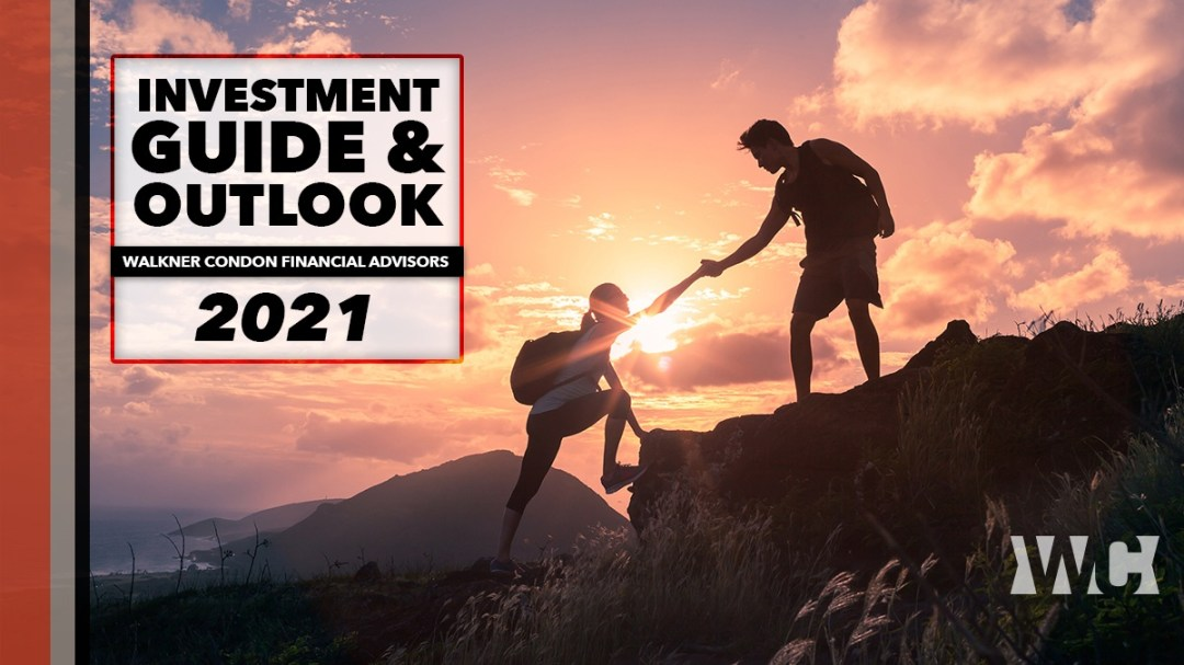 Investment Guide cover - couple hiking up mountain