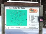 Jack Lake Ski Trail Sign