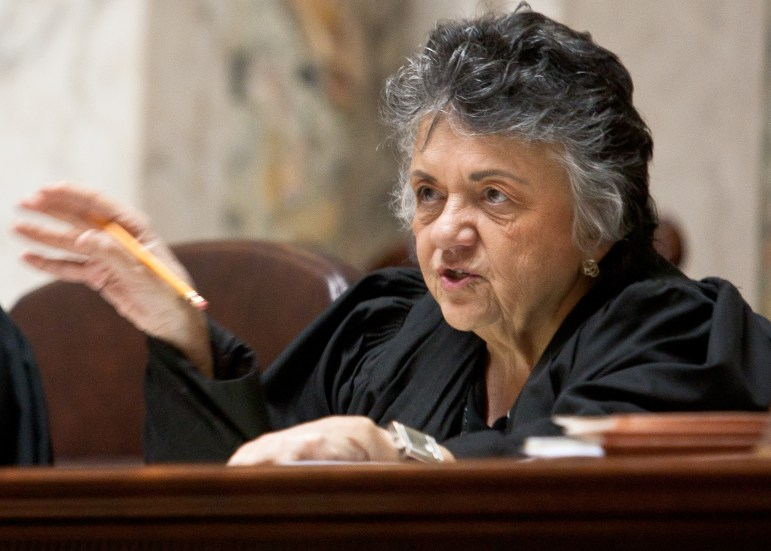 Chief Justice Shirley Abrahamson, 2012. Wisconsin Center for Investigative Journalism/Lukas Keapproth
